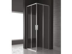 RELAX, FLAT A+A Box doccia angolare con porta scorrevole
