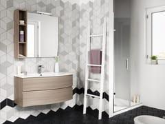 Mobile bagno sospeso con cassetti con specchio FLEX 03 - Express