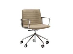 Sedia ufficio ad altezza regolabile a 5 razze con ruoteFLEX EXECUTIVE SO1859 - ANDREU WORLD