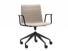 Sedia ufficio ad altezza regolabile a 5 razze con braccioliFLEX HIGH BACK SO1664 - ANDREU WORLD