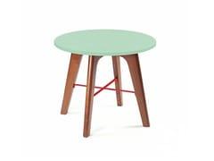 Tavolino rotondo in legno FLEX | Tavolino in legno - Flex