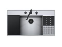Lavello in acciaio inox con rubinetto e kit accessoriFLEXI KIT 1LFX101NK - BARAZZA