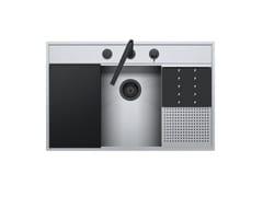 Lavello in acciaio inox con rubinetto e kit accessoriFLEXI KIT 1LFX91NK - BARAZZA