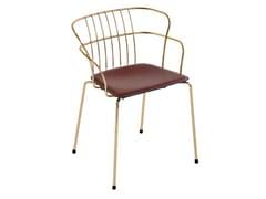 Sedia da giardino con braccioli FLINT 535-A | Sedia in cuoio - Flint