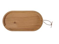 Vassoio / tagliere in rovereFLIP OVAL | Vassoio in legno - UBIKUBI