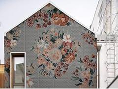 Wall&decò, FLO Carta da parati con motivi floreali per esterni