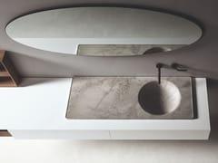 Lavabo da incasso soprapiano rotondo singolo in marmoFLOE | Lavabo singolo - BOFFI