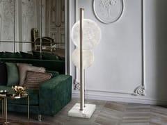 Lampada da terra a LED in alabastro e metalloLUNA NUOVA | Lampada da terra - PATRIZIA VOLPATO