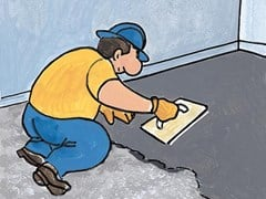 Microcalcestruzzo fibrato per il ripristino di pavimenti FLOOR TENAX - FLOORTECH