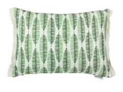 Cuscino rettangolare in viscosa con motivi florealiFLORA - GANCEDO