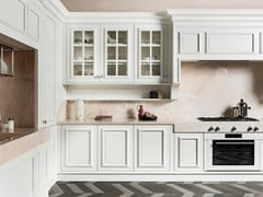 Cucina lineare in legno con maniglie FLORAL | Cucina lineare - Floral
