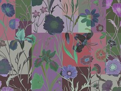 Carta da parati stampata in digitale con motivi floreali FLORAL PATCH - Walls by Patel II