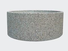 Fioriera per spazi pubblici rotonda in cementoFIORIERA SENZA FONDO - CANTIERE TRI PLOK