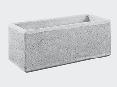 Fioriera per spazi pubblici in cementoFIORIERA SQUADRATA SENZA PIEDINI - CANTIERE TRI PLOK