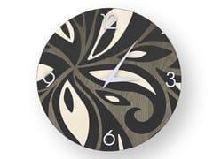 Orologio da parete in legno intarsiato FLOWERS COLD | Orologio - DOLCEVITA ABSTRACT