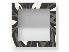 Specchio quadrato da parete con cornice FLOWERS COLD   Specchio - DOLCEVITA ABSTRACT