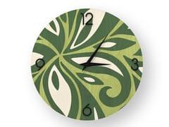 Orologio da parete in legno intarsiato FLOWERS COLORS   Orologio - DOLCEVITA ABSTRACT