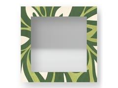 Specchio quadrato da parete con cornice FLOWERS COLORS | Specchio - DOLCEVITA ABSTRACT