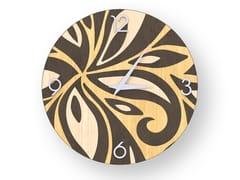 Orologio da parete in legno intarsiato FLOWERS WARM | Orologio - DOLCEVITA ABSTRACT