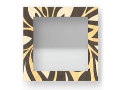Specchio quadrato da parete con cornice FLOWERS WARM | Specchio - DOLCEVITA ABSTRACT