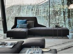Divano in tessuto con chaise longue FLUID | Divano con chaise longue - Fluid