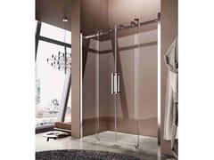 Box doccia a nicchia con porta scorrevole FLUIDA FT - Showering