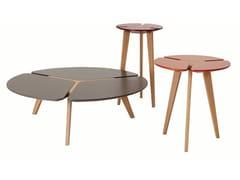 Tavolino basso rotondo in MDFFLYING FLOWER - ROCHE BOBOIS
