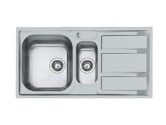 Lavello semi filo top in acciaio inox con gocciolatoioFM 1,5V.RV+SC.S/FT MARINE - FOSTER