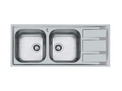 Lavello semi filo top in acciaio inox con gocciolatoioFM 2V.RV+SC.S/FT MARINE - FOSTER