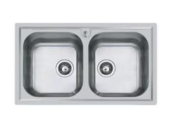 Lavello a 2 vasche semi filo top in acciaio inoxFM 2V S/FT MARINE - FOSTER