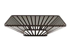 Tavolino basso quadrato in acciaio e vetroFOCUS   Tavolino - ROCHE BOBOIS
