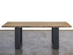 Tavolo da pranzo rettangolare in legno di recuperoFOLLINA - A&B ROSA DEI LEGNI BY ANTICA EDILIZIA