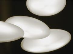 Lampada a sospensione a LED in polietilene con dimmer°FOOL MOON MEDIUM - EDEN DESIGN