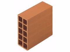 Blocco da muratura in laterizio / Blocco per tamponamento in laterizio Forati 10x25x25 - Blocchi e forati
