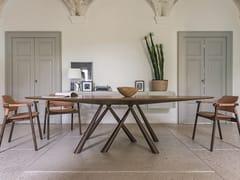 Tavolo ovale in legno impiallacciatoFOREST | Tavolo ovale - MIDJ