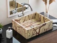 Lavabo da appoggio in marmo Rain ForestFOREST | Lavabo - R.G. SERVICE