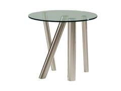 Tavolino alto rotondo in acciaio e vetroFOREST   Tavolino rotondo - ROCHE BOBOIS