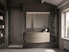 Mobile lavabo laccato sospeso con cassetti FORM 04 - Form