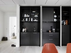 Cucina lineare in legno massello FORM 2 - POCKETDOORS -