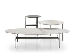 Tavolino basso ovale in gres porcellanato FORMICHE | Tavolino ovale -