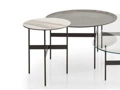 Tavolino basso rotondo in gres porcellanato FORMICHE | Tavolino rotondo -
