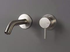 Miscelatore per lavabo a 2 fori a muro in acciaio inox FORTY - 1210041/2 - Forty