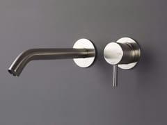 Miscelatore per lavabo a 2 fori a muro in acciaio inox FORTY - 1210051/2 - Forty