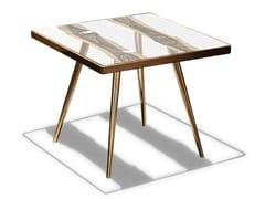 Tavolino alto da caffè in vetro in stile moderno da salotto FOSSILE -