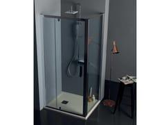Box doccia angolare con porta a battenteFPB40 + FISSO | Box doccia angolare - TAMANACO