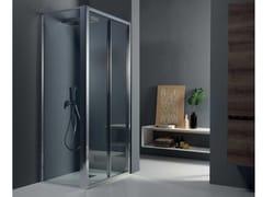 Box doccia angolare con porta a soffiettoFPS30 + FISSO | Box doccia angolare - TAMANACO