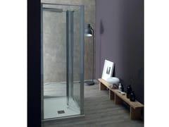 Box doccia centro stanza con porta a soffiettoFPS30 + FISSO | Box doccia centro stanza - TAMANACO