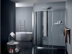 Box doccia in cristallo con porta scorrevoleFPSC50 + FISSO | Box doccia angolare - TAMANACO