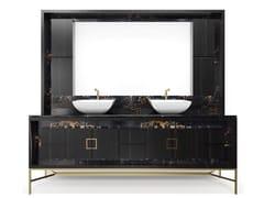 Mobile lavabo in marmo con lavabo integratoFRAME | Mobile lavabo doppio - ESTRO COLLEZIONI