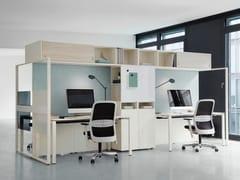 Postazione di lavoro multipla con scaffale integratoFRAME_S | Postazione di lavoro - BENE